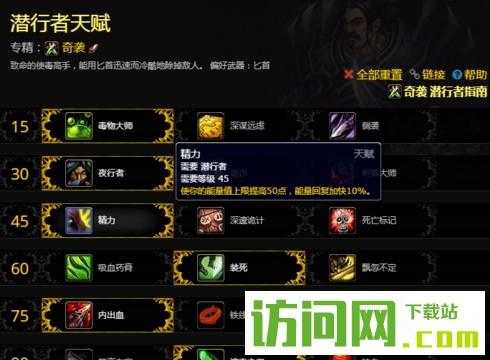 魔兽世界8.0潜行者奇袭最新天赋加点推荐